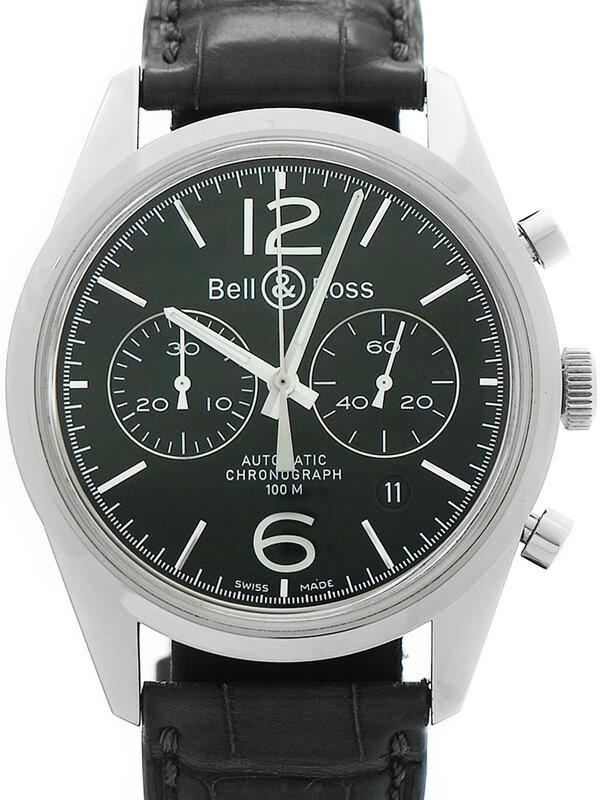 【Bell&Ross】ベルアンドロス『ヴィンテージ オフィサー クロノグラフ』BR126 メンズ 自動巻き 3ヶ月保証【中古】