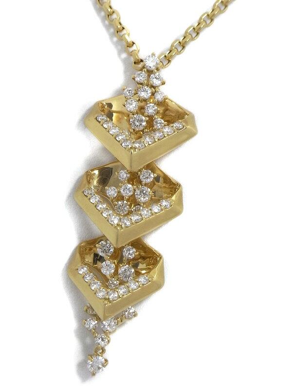 セレクトジュエリー『K18YGネックレス ダイヤモンド2.00ct』1週間保証【中古】