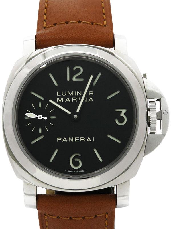 【PANERAI】【裏スケ】パネライ『ルミノールマリーナ 44mm』PAM00111 O番'12年製 メンズ 手巻き 6ヶ月保証【中古】