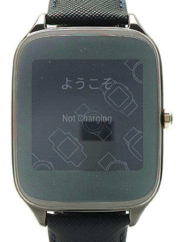 【ASUS】【スマートウォッチ】【美品】エイスース『Zen Watch2 ガンメタル ダークブルー』WI501Q-BL04 ボーイズ ウェアラブル端末 1週間保証【中古】