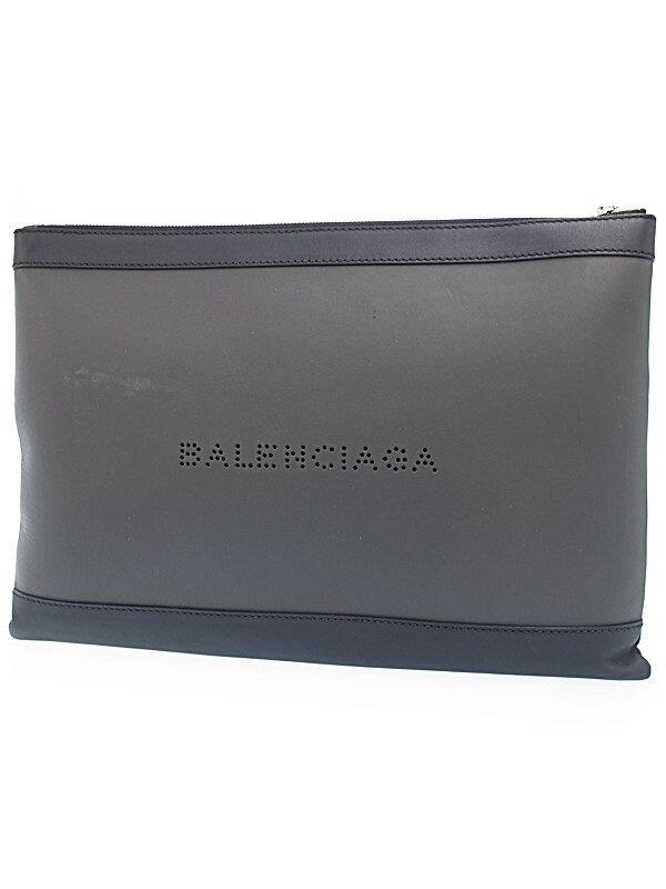 【BALENCIAGA】バレンシアガ『ネイビー クリップ L』373840 メンズ クラッチバッグ 1週間保証【中古】