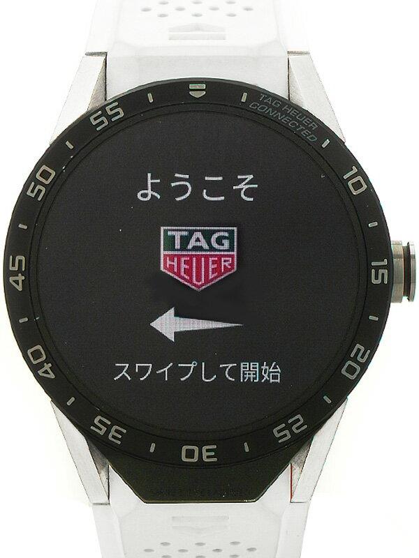 【TAG Heuer】【スマートウォッチ】【'16年購入】タグホイヤー『コネクテッドウォッチ』SAR8A80.FT6045 メンズ ウェアラブル端末 3ヶ月保証【中古】