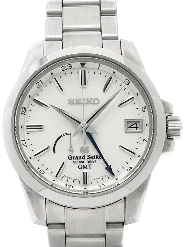 【SEIKO】セイコー『グランドセイコー GMT』SBGE009 メンズ スプリングドライブ 3ヶ月保証【中古】