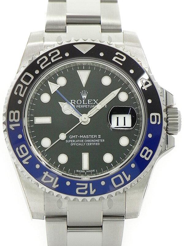 【ROLEX】【'15年購入】【美品】ロレックス『GMTマスター2 青×黒ベゼル』116710BLNR ランダム番 メンズ 自動巻き 12ヶ月保証【中古】