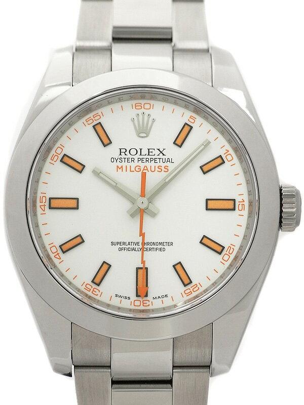 【ROLEX】ロレックス『ミルガウス』116400 V番'09年頃製 メンズ 自動巻き 12ヶ月保証【中古】