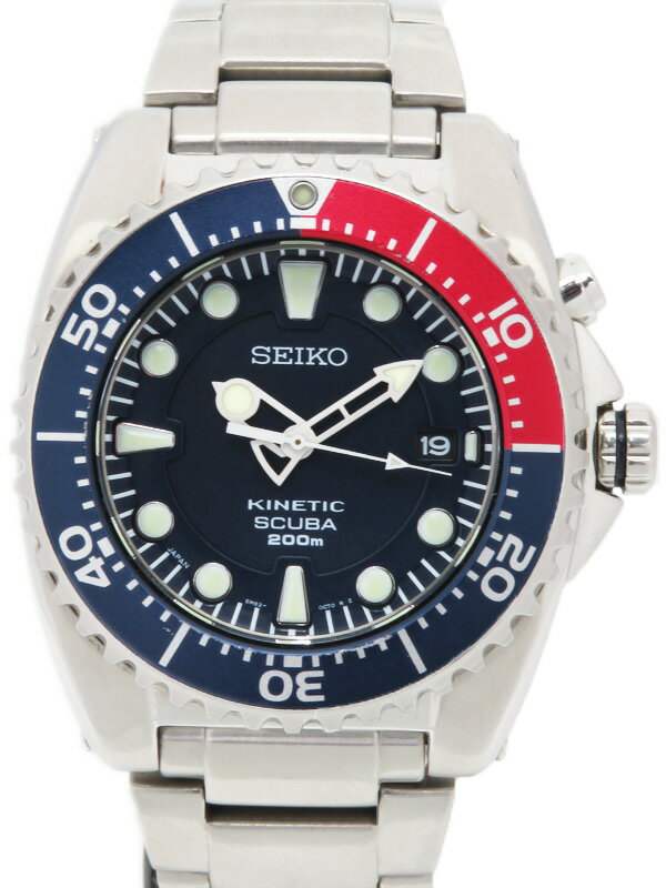 【SEIKO】【海外モデル】セイコー『プロスペック ダイバーズ』SKA369P1 メンズ キネティック 1週間保証【中古】