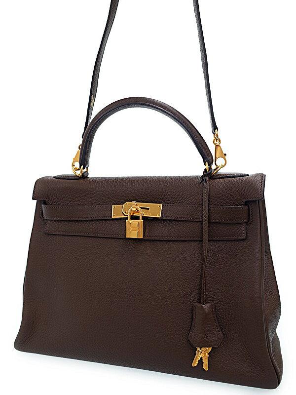 【HERMES】【ゴールド金具】エルメス『ケリー32 内縫い』L刻印 2008年製 レディース 2WAYバッグ 1週間保証【中古】