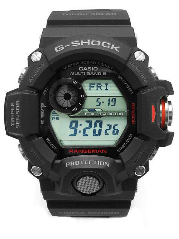 【CASIO】【G-SHOCK】【海外モデル】【美品】カシオ『Gショック レンジマン』GW-9400-1DR メンズ ソーラー電波クォーツ 1週間保証【中古】