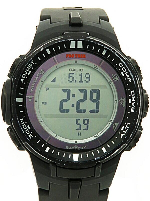 【CASIO】カシオ『プロトレック トリプルセンサー』PRW-3000-1JF メンズ ソーラー電波クォーツ 1週間保証【中古】