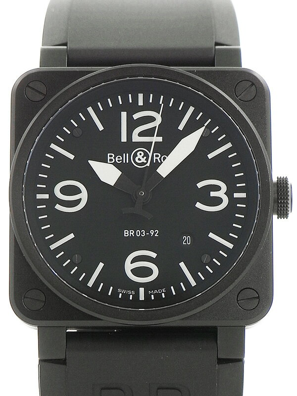 【Bell&Ross】【美品】ベルアンドロス『オートマティック』BR03-92 メンズ 自動巻き 3ヶ月保証【中古】