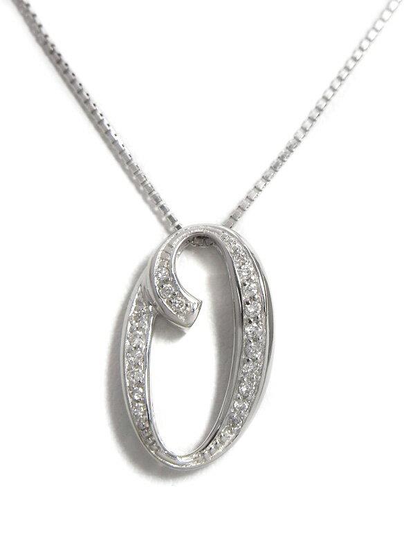 セレクトジュエリー『K18WGネックレス ダイヤモンド0.13ct』1週間保証【中古】