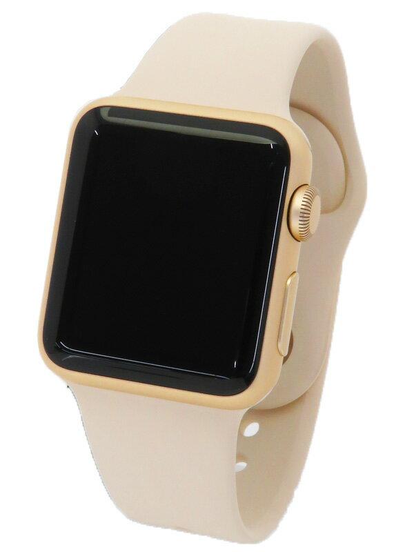 【Apple】【アップルウォッチ】アップル『Apple Watch Sport 38mm アンティークホワイトスポーツバンド』MLCJ2J/A ボーイズ ウェアラブル端末 1週間保証【中古】