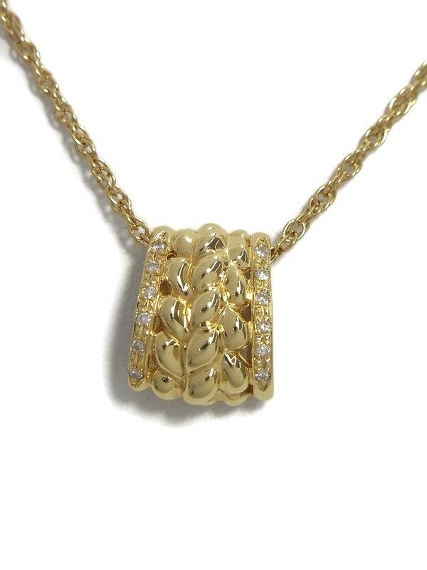 セレクトジュエリー『K18YGネックレス ダイヤモンド』1週間保証【中古】