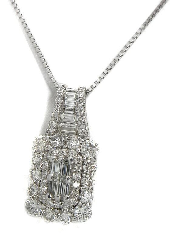 セレクトジュエリー『PT900/PT850ネックレス ダイヤモンド1.50ct』1週間保証【中古】