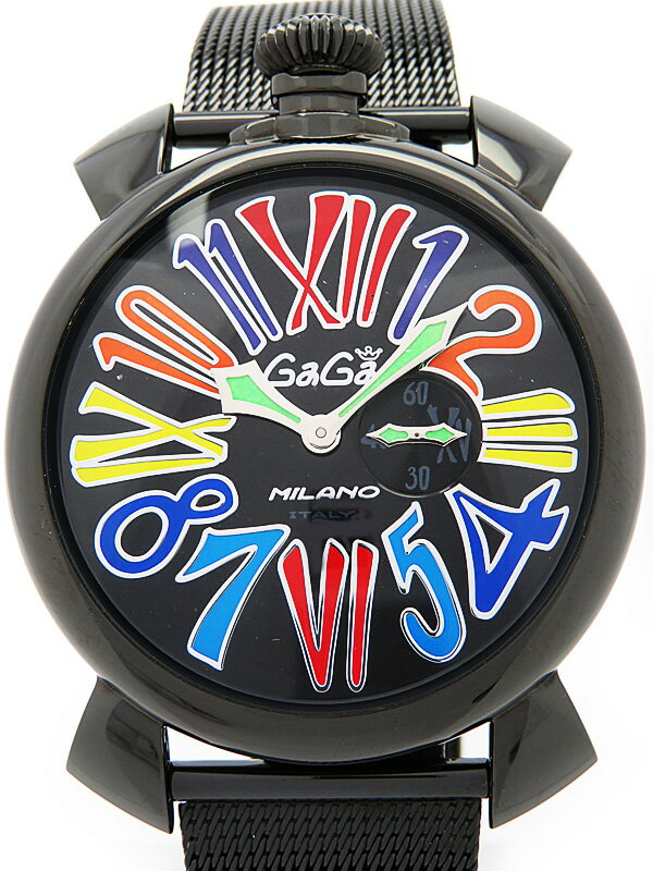 【GaGa MILANO】ガガミラノ『マヌアーレ スリム 46mm』5082.1 メンズ クォーツ 1ヶ月保証【中古】
