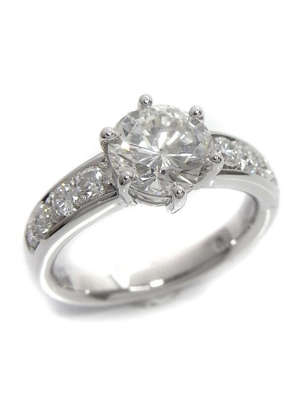 【ソーティング】【リフォーム品】セレクトジュエリー『PT900リング ダイヤモンド1.796ct/J/SI-1/VERY GOOD 0.45ct』12号 1週間保証【中古】