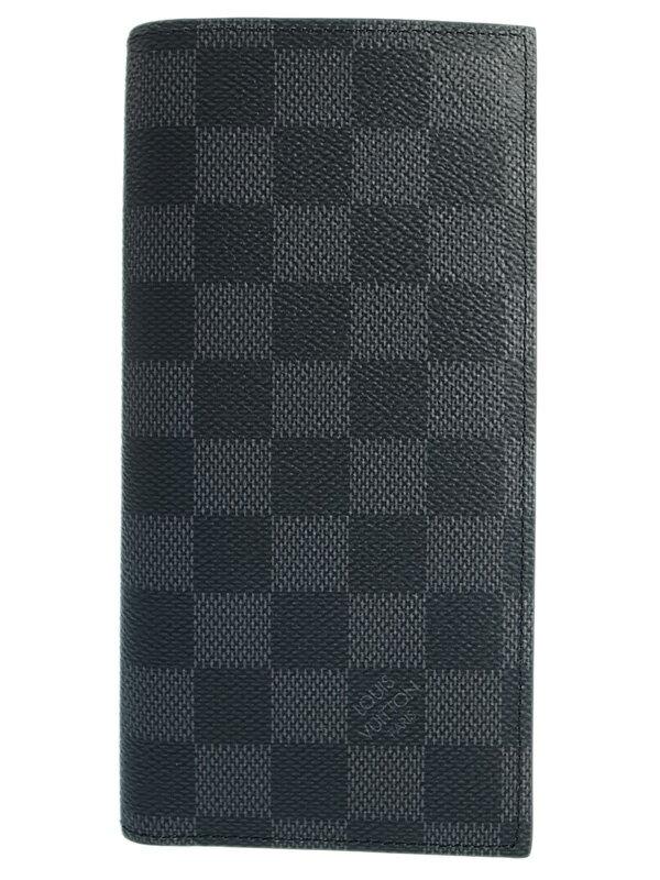 【LOUIS VUITTON】ルイヴィトン『ダミエ グラフィット ポルトフォイユ アレキサンドラ』N64414 メンズ 二つ折り長財布 1週間保証【中古】