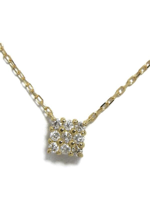 セレクトジュエリー『K18YGネックレス ダイヤモンド0.13ct』1週間保証【中古】