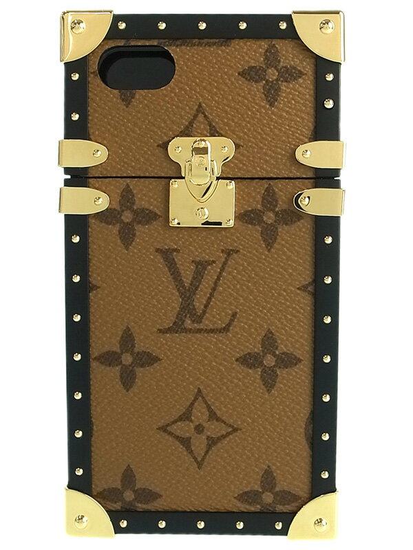 【LOUIS VUITTON】ルイヴィトン『モノグラム リバース アイ トランク iPhone7』M64484 ユニセックス アイフォンケース 1週間保証【中古】