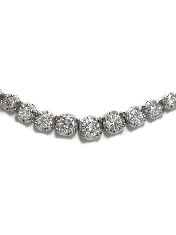 セレクトジュエリー『PT850 ダイヤモンド5.00ct テニスネックレス』1週間保証【中古】