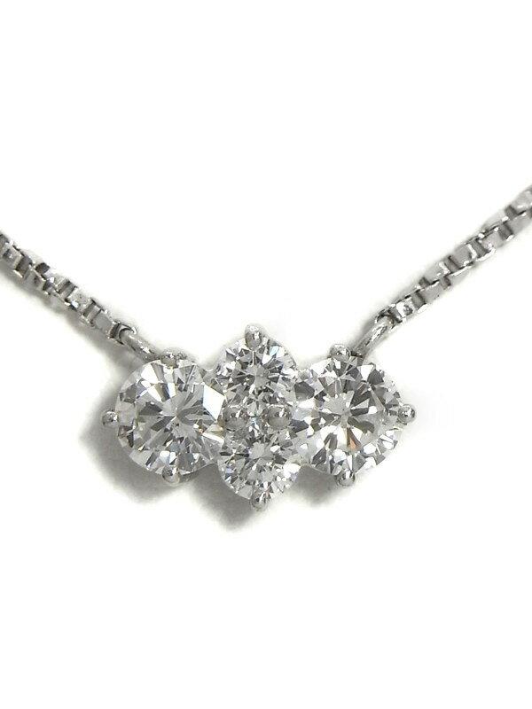 【星の砂】ホシノスナ『PT850ネックレス ダイヤモンド0.76ct』1週間保証【中古】