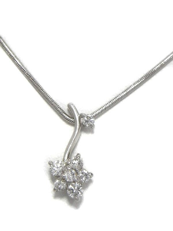 【星の砂】ホシノスナ『PT900/PT850ネックレス ダイヤモンド0.24ct』1週間保証【中古】