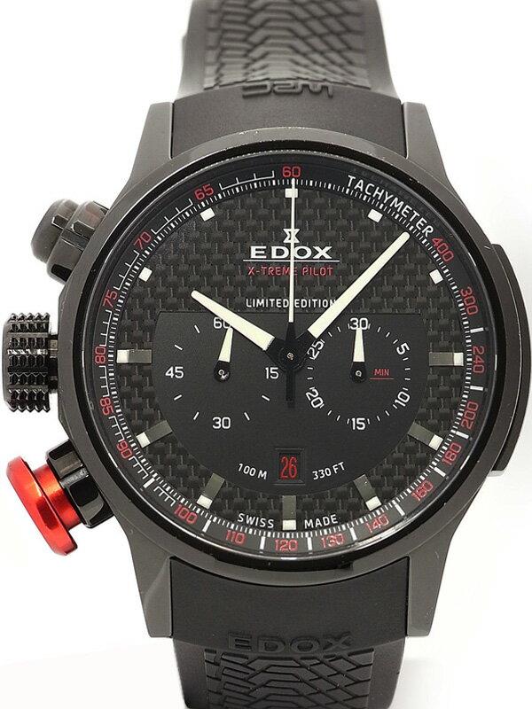 【EDOX】【1000本限定】エドックス『クロノラリー エクストリーム パイロット』10302-37N-NOR メンズ クォーツ 1ヶ月保証【中古】