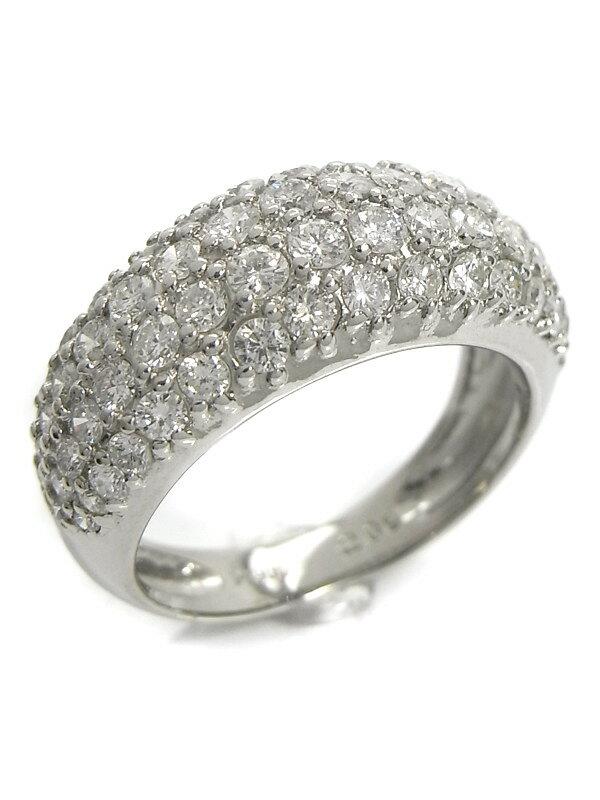 【パヴェダイヤ】【仕上済】セレクトジュエリー『PT900リング ダイヤモンド2.00ct』13号 1週間保証【中古】