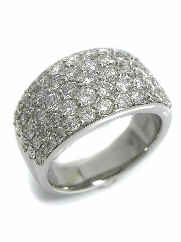 【パヴェダイヤ】セレクトジュエリー『PT900リング ダイヤモンド2.00ct』11.5号 1週間保証【中古】