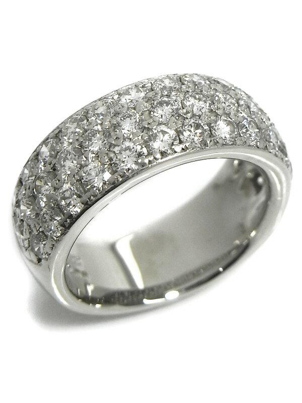 【パヴェダイヤ】セレクトジュエリー『PT900リング ダイヤモンド2.00ct』11号 1週間保証【中古】