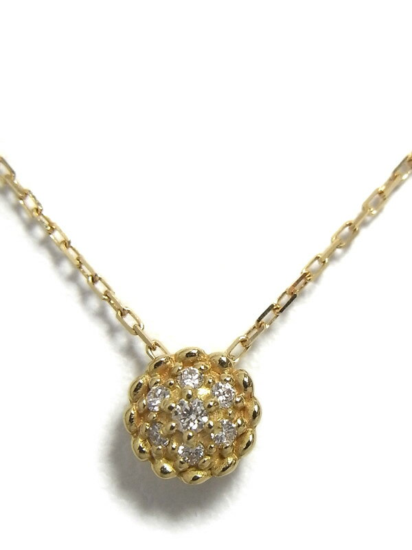 【JILL STUART】ジルスチュアート『K18YGネックレス ダイヤモンド0.03ct』1週間保証【中古】
