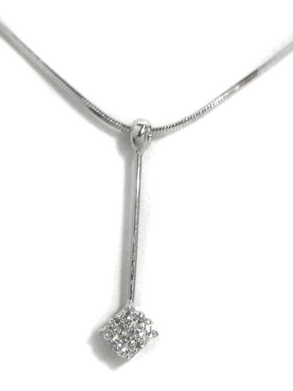 【Star Jewelry】スタージュエリー『K18WGネックレス ダイヤモンド0.06ct』1週間保証【中古】