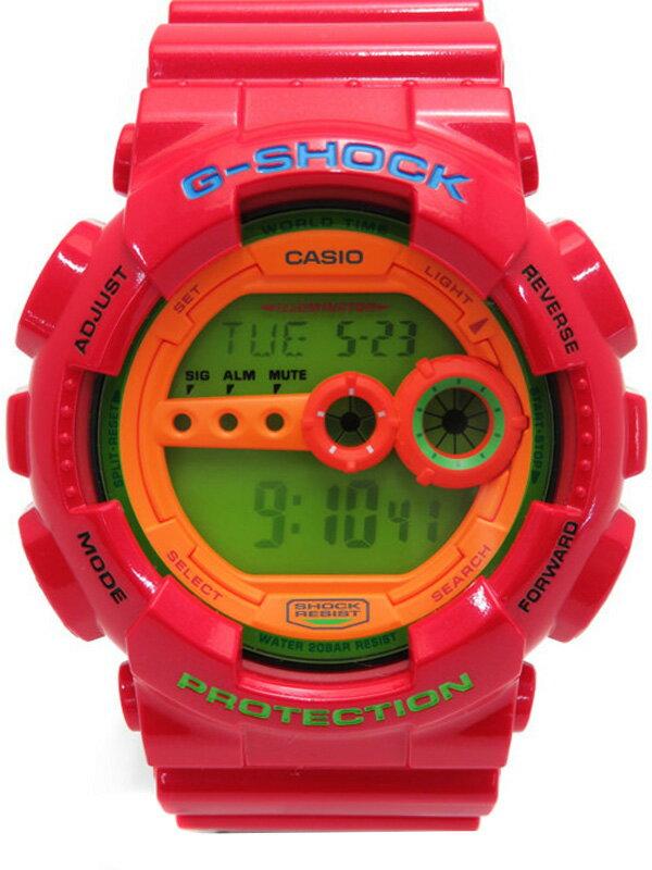 【CASIO】【G-SHOCK】カシオ『Gショック ハイパーカラーズ』GD-100HC-4JF メンズ クォーツ 1週間保証【中古】