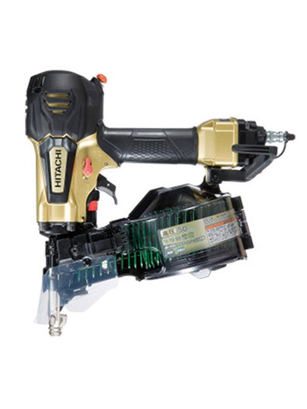 日立工機『高圧ロール釘打機』NV50HR(S) メタリックゴールド パワー切替機構付 N釘50mm CN釘50mm GN釘40mm ケース【中古】