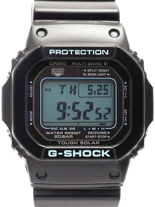 【CASIO】【G-SHOCK】カシオ『Gショック ブラック×ブルーシリーズ』GW-M5610BA-1AJF ボーイズ ソーラー電波クォーツ 1週間保証【中古】