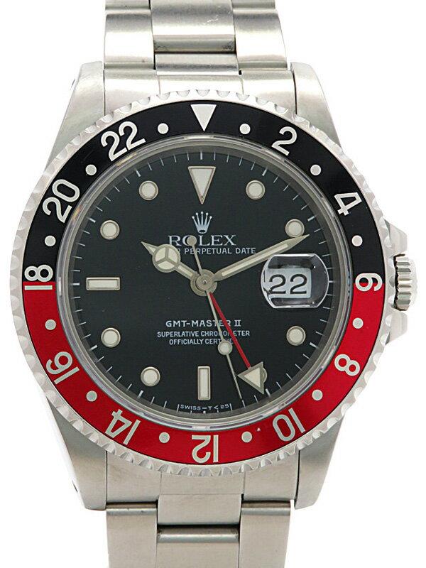【ROLEX】【OH済】ロレックス『GMTマスター2 赤×黒ベゼル』16710 X番'91年頃製 メンズ 自動巻き 12ヶ月保証【中古】