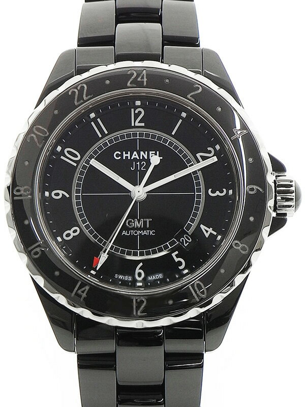 【CHANEL】【ニューダイアル】シャネル『J12 GMT ブラックセラミック 42mm』H2012 メンズ 自動巻き 6ヶ月保証【中古】