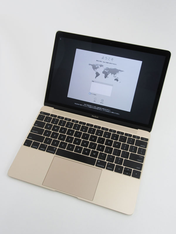 【Apple】アップル『MacBook 1100/12』MK4M2JA/A ゴールド USキーボード Early 2015 256GB ElCapitan ノートPC【中古】