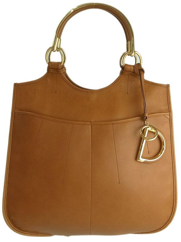 【Christian Dior】クリスチャンディオール『レザートートバッグ』レディース 1週間保証【中古】