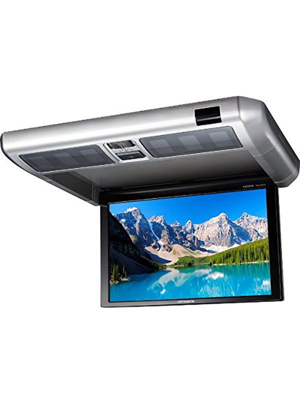 カロッツェリア『10.2V型ワイドVGAフリップダウンモニター』TVM-FW1030-S シルバー HDMI ルームランプ【中古】