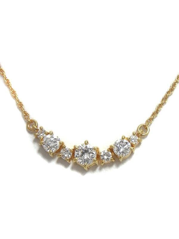 【TASAKI】タサキ『K18YGネックレス ダイヤモンド0.73ct』1週間保証【中古】