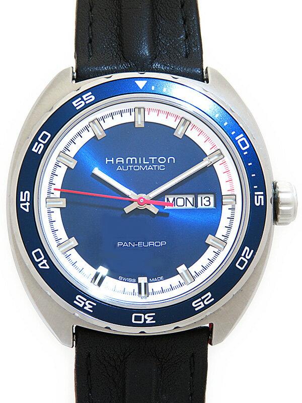 【HAMILTON】【裏スケ】【内部点検済】ハミルトン『パンユーロ』H35405941 メンズ 自動巻き 1ヶ月保証【中古】