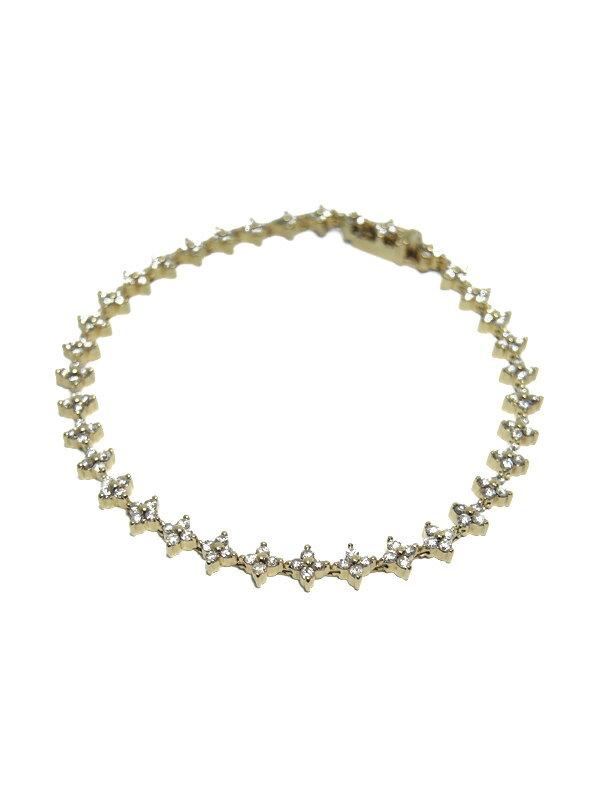 セレクトジュエリー『K18YGブレスレット ダイヤモンド2.01ct フラワーデザイン』1週間保証【中古】