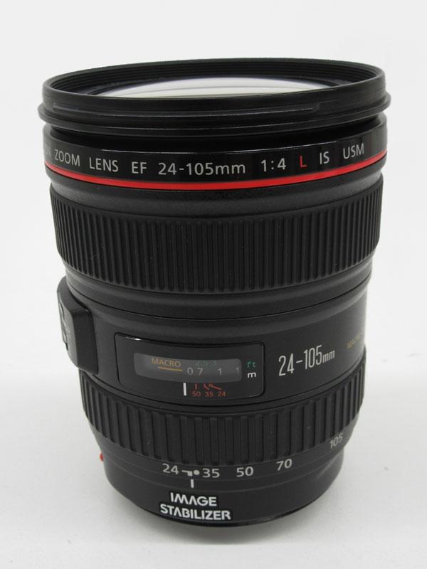 【Canon】キヤノン『EF24-105mm F4L IS USM』EF24-10540LIS 非球面 標準ズーム 一眼レフカメラ用レンズ 1週間保証【中古】