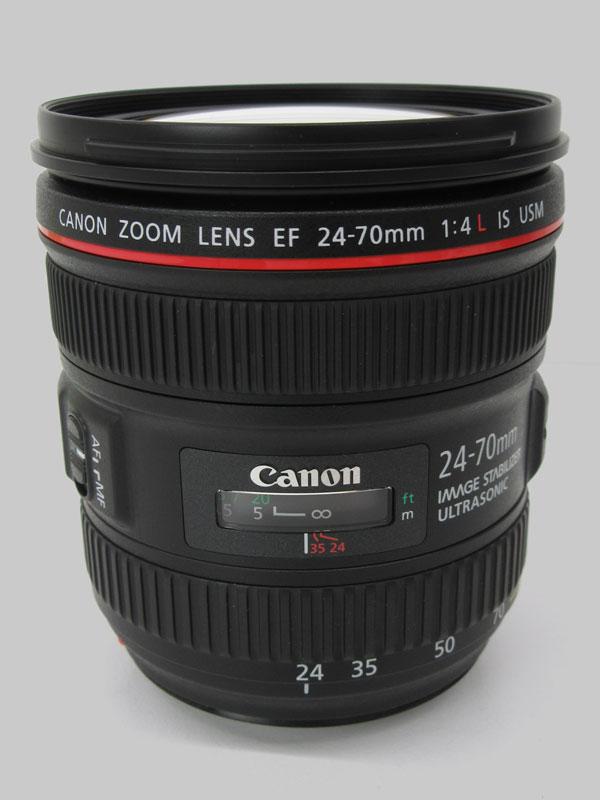 【Canon】キヤノン『EF24-70mm F4L IS USM』EF24-7040LIS 非球面 標準ズーム 一眼レフカメラ用レンズ 1週間保証【中古】