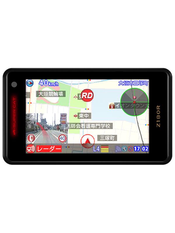 ユピテル『SuperCat(スーパーキャット) Zシリーズ』Z180R 3.6型 1ボディタイプ GPS&レーダー探知機【新品】