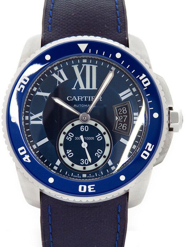 【CARTIER】【'16年購入】カルティエ『カリブルドゥ カルティエ ダイバー』WSCA0010 メンズ 自動巻き 6ヶ月保証【中古】
