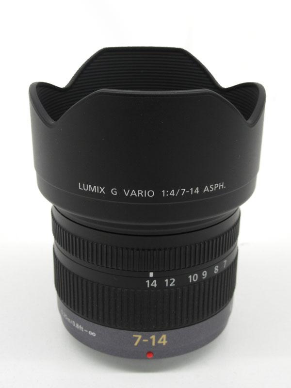 パナソニック『LUMIX G VARIO 7-14mm F4.0 ASPH. 』H-F007014 14mm-28mm相当 ミラーレス一眼カメラ用レンズ 1週間保証【中古】