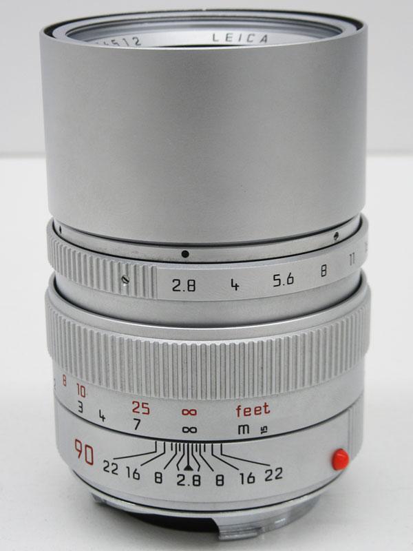 ライカ『LEICAエルマリートM90mm F2.8 フード組込』3776512 シルバー E46 レンジファインダーカメラ用 レンズ【中古】