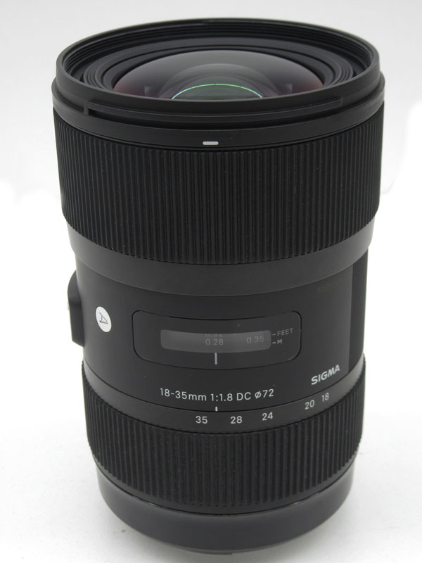【SIGMA】シグマ『18-35mm F1.8 DC HSM』キヤノンマウント デジタル一眼レフカメラ用レンズ 1週間保証【中古】